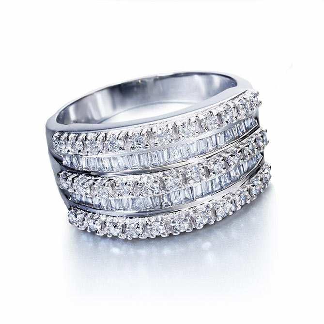 Anel De Diamantes Tiara Real Galeria